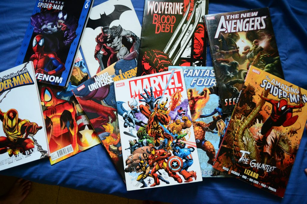 Marvel comic book selection image
