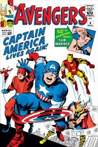 The Avengers (vol. 1) #4 - Captain America's first appearance