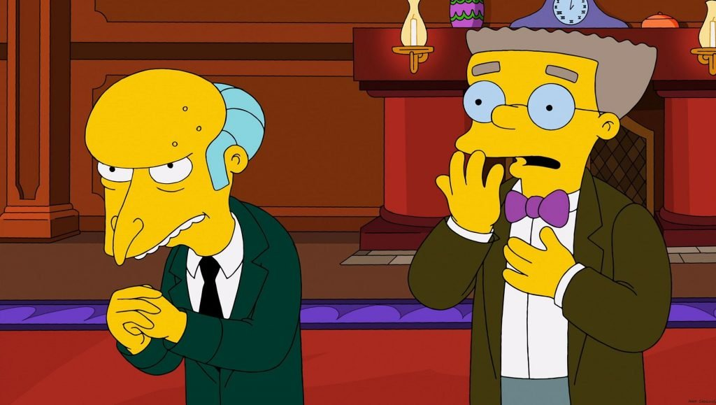 The Simpsons Mr Burns and Smithers image