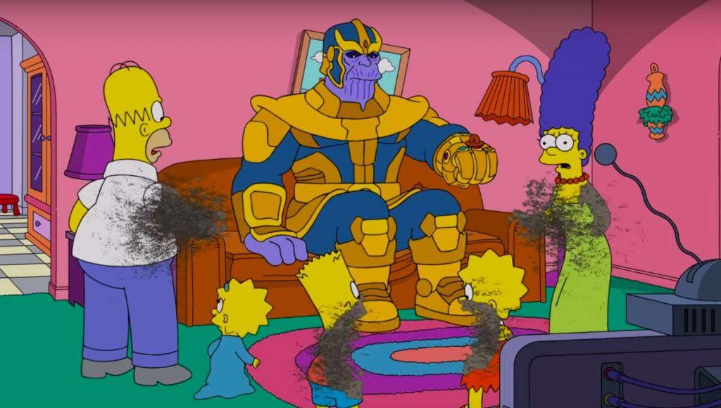 Thanos Simpsons image